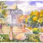 Відомий столичний художник створив низку робіт про Бориспіль