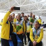 З короваєм та квітами в «Борисполі» зустрічали українських паралімпійців
