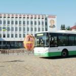 Головною площею Борисполя на електроавтобусі