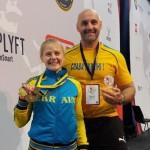 Пауерліфтинг: бориспільська чемпіонка здобула медалі у Швеції