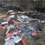 Через підпал сміття у Гнідині мало не згоріла ціла вулиця