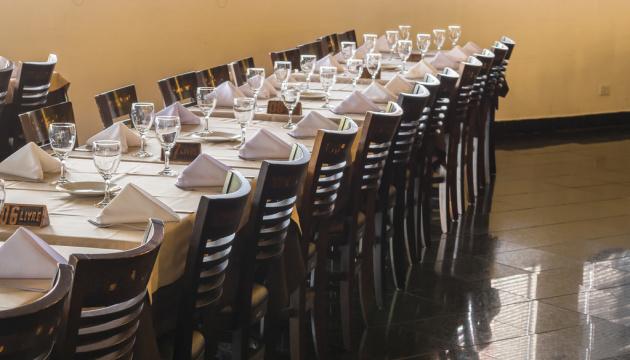 Empty Restaurant Interior View