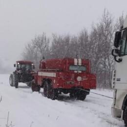 київщина через снігопад