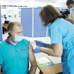 Масова вакцинація у Борисполі: за перші пів години щеплення отримали 25 осіб, за день – 228